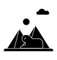 pyramids egypt icon sign o vector image