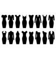 set of black dresses vector image