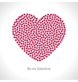 Valentine heart shape filled with red vector image