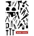 Work tools silhouette icons vector image