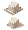 isometric low poly Opera house vector image vector image
