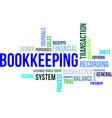 word cloud bookkeeping vector image