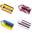 label Made in Uganda United Kingdom Ukraine Urugua vector image