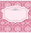 Frame on patterns in pastel pink vector image