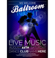 Ballroom Night Party Flyer design vector image vector image