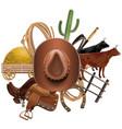 Cowboy Ranch Concept vector image
