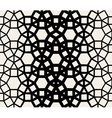 Seamless Black White Geometric Lace Pattern vector image