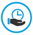 Time Service Rounded Icon vector image