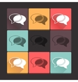 Beautiful pure talk icon set Simple flat square vector image