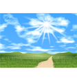 blue sky ahead vector image