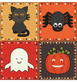 halloween ornaments vector image