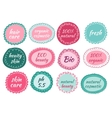 hand drawn icons for natural cosmetic vector image