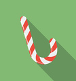 Icon of Christmas Candy Flat style vector image