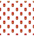 Jar of strawberry jam pattern cartoon style vector image