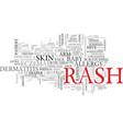 rash word cloud concept vector image