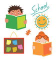 School characters set vector image