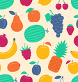 seamless background with fruits vector image