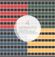 seamless tartan patterns set redyellow greenblue vector image