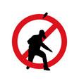 stop terrorism terrorism is forbidden vector image