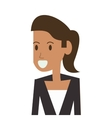 woman character icon vector image