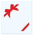 Ribbon bow blue card vector image vector image