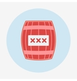 Pirate icon cask or barrel Flat design style vector image