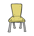 comic cartoon old school chair vector image