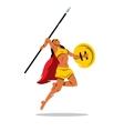 Woman Warrior with a spear Cartoon vector image