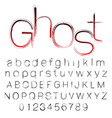 bloody ghost hand written font vector image