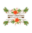 christmas gold border vector image