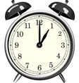 Classic alarm clock over white background vector image