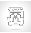 Flat line coffee machine icon Coffee shop vector image