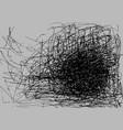 grunge background black color on gray sketch vector image