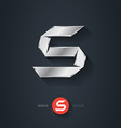Letter S silver font Elegant Template for company vector image