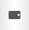 money wallet icon symbol element vector image