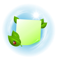 Note with leaves and ladybird vector image