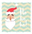 Santa Claus happy face Cartoon funny character vector image