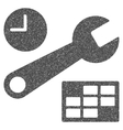 Date And Time Setup Grainy Texture Icon vector image