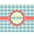 Christmas Greeting Card Retro Color vector image