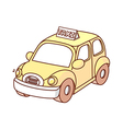 A view of taxi vector image vector image