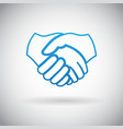 Handshake Cooperation Partnership Icon Symbol Sign vector image