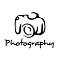 Camera and photography emblem vector image