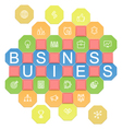 Business Puzzles vector image