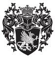 heraldic silhouette No17 vector image