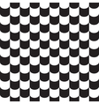 Tile pattern background black and white vector image vector image