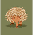 Little hedgehog walking alone vector image
