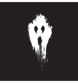 Scary ghost face vector image vector image