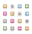 internet and website buttons and icons vector image vector image