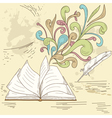 opened book with abstract design vector image vector image