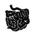 Small intestine black icon vector image